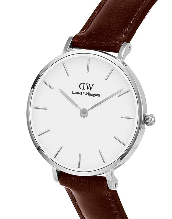 Daniel Wellington Reloj Analógico para Mujer de Cuarzo con Correa en Cuero DW00100243: Amazon.es: Relojes