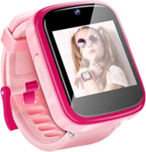 Yehtta Kids Smart Watch, Built in Selfie-Camera, Gift for Boys Girls Age 3-10, Multi-Function Touchscreen Smartwatch, Electronic Watches, Toys for 3 4 5 6 7 8 9 Year Old Boy-Pink