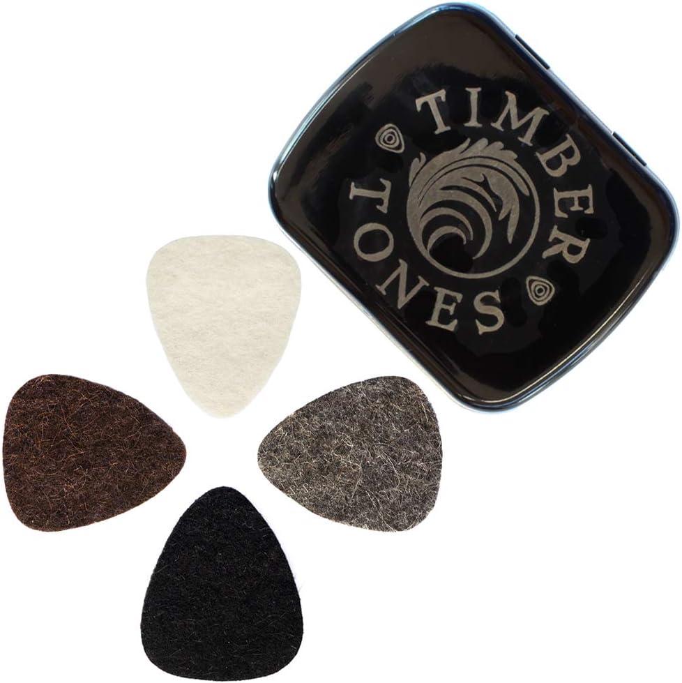Felt Tones FTMT4 - Pack de 4 púas de fieltro para ukelele, multicolor