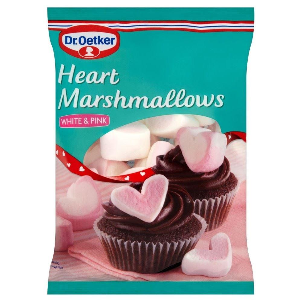 Dr. Oetker Heart Marshmallows White & Pink (100g) - Pack of 6