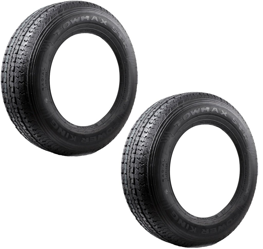 2-Pack TowMax Radial Trailer Tires ST215-75R14 Load Range C 1870# 50PSI 6-Ply