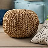 Eco Friendly Handmade Ottoman Chair Round Pouf Footstool India