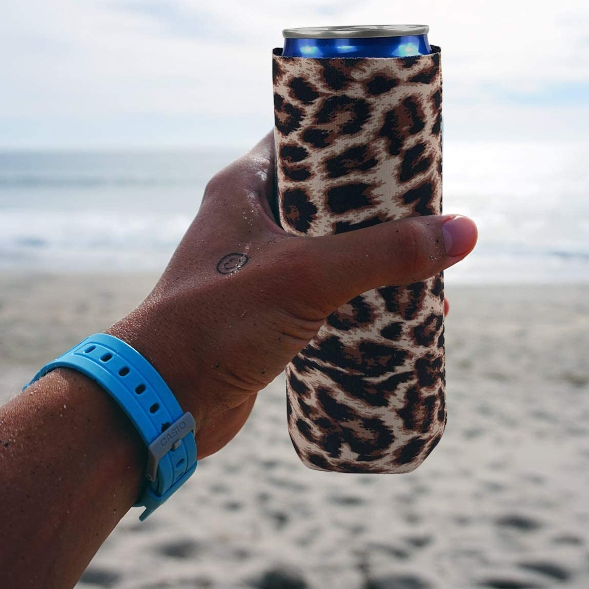 Neoprene Slim Beer Can Koozie Sleeves Cooler Foldable Stubby Beer Cooler Party Insulators Bags Fits 12oz Slim Energy Drink Beer Cans Koozies Covers
