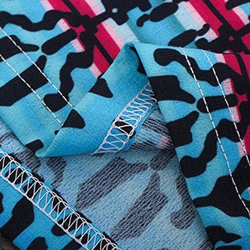 QIYUN.Z Robe Bustier De Mode Tube Bleu Costume Long Des Femmes