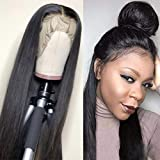 Sdamey 360 Lace Frontal Wig Pre Plucked With Baby Hair Lace Front Wigs Human Hair Straight Human Hair Wigs Natural Hairline For Black Women(10Inch)