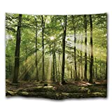 DEQI Forest Sunlight Digital Printing Decorative Wall Hanging Tapestry (78INCH59ICHN)