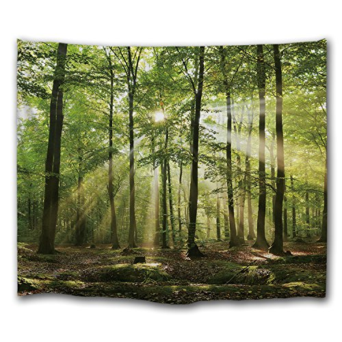 DEQI Forest Sunlight Digital Printing Decorative Wall Hanging Tapestry (78INCH59ICHN) by DEQI