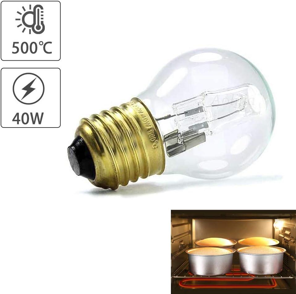 Temperaturfest bis 500 /° C Mikrowelle//Backofen Spezifische Leuchtmittel luckything Kleine Schraube Gap Pygm/äenlampen Backofenlampe E27 40W