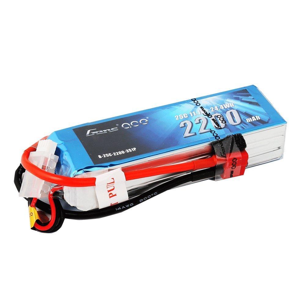 Amazon.com: Gens ace LiPo Battery Pack 2200mAh 25C 3S 11.1V with ...