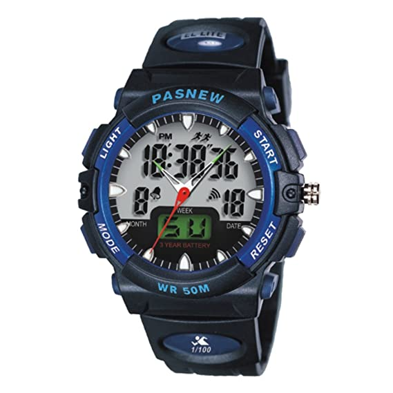 Mens relojes impermeable junior reloj electrónico de la manera-D