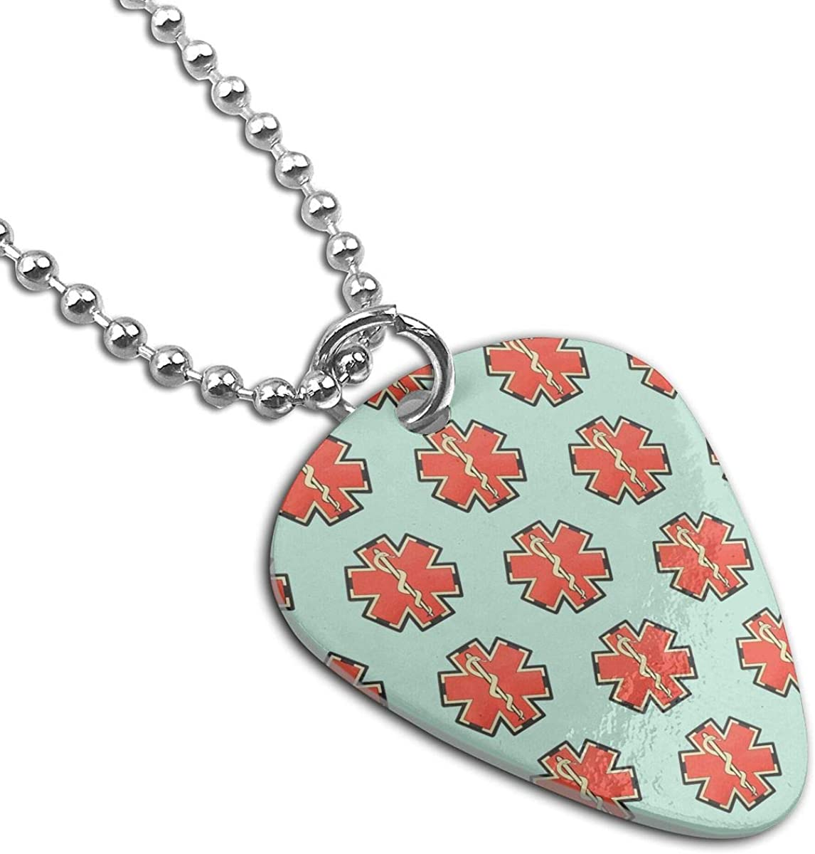 American EMS Star Of Life Pendant Necklace Guitar Pick Custom Keychain Pet Card