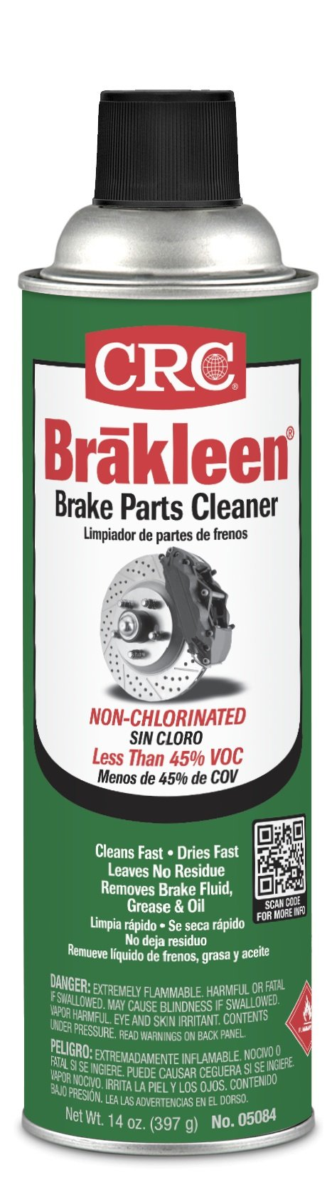 CRC Brakleen Non-chlorinated Brake Parts Cleaner, Less 45% VOC, 14 Oz, Pack of 12 Cans by CRC