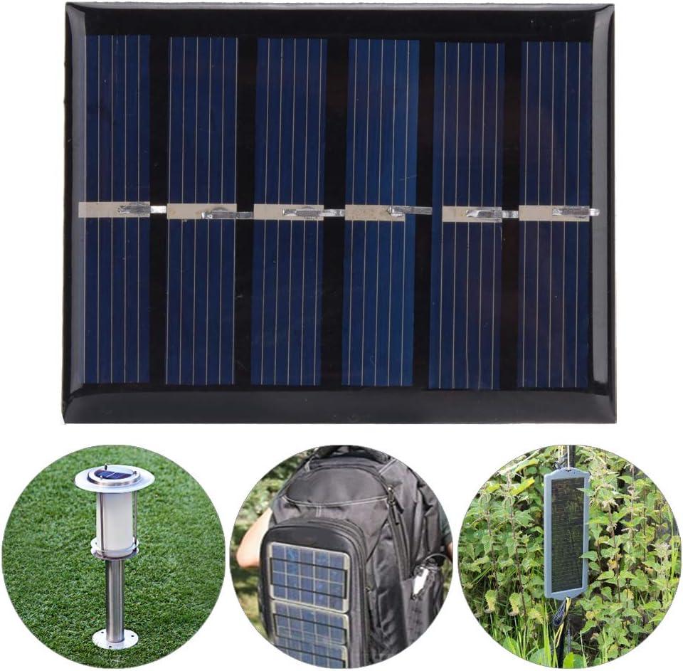Alomejor 4 St/ück Solarpanel Tragbares 3V 0,3W 65x48MM Polysilicium Solarpanel Ladeplatine f/ür Stromversorgungsger/äte