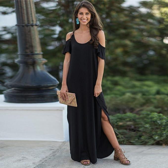 MOUTEN Women Plain Slim Fit Long Sleeve Crewneck Cocktail Party Maxi Dress