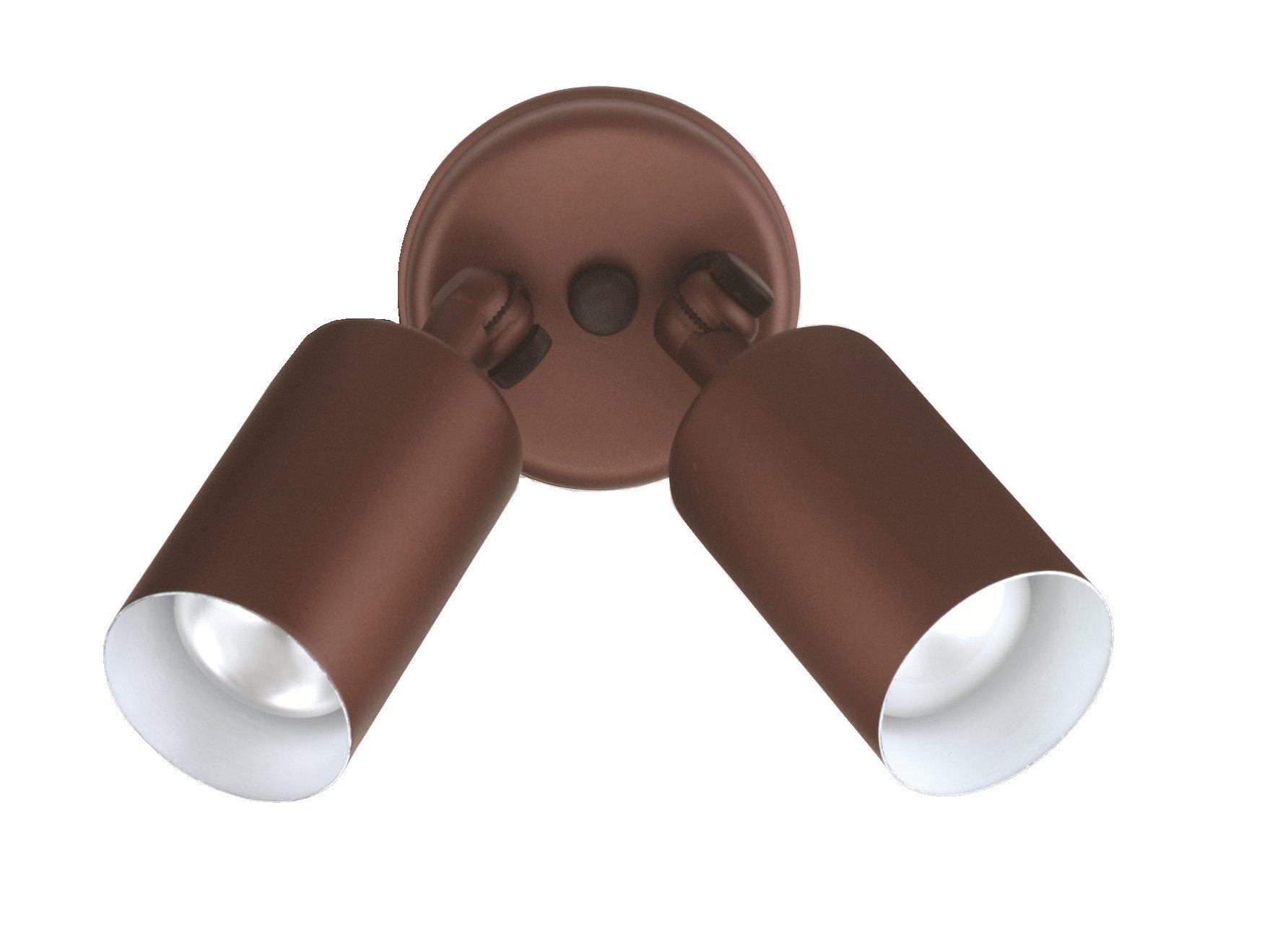 NICOR Lighting 50-Watt Double Bullet Adjustable Outdoor Flood Light, Bronze (11528)