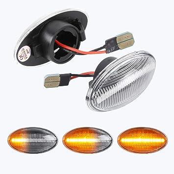 Dynamische Blinkleuchte Oz Lampe Seitenmarkierung Fließende Seitenmarkierungen Klar Für Bm W Mini Cooper R50 R52 R53 2001 2006 Auto
