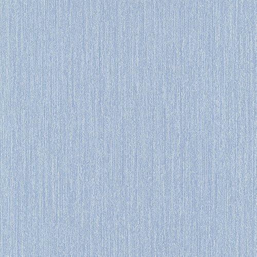 PS International Striped Pattern Plain Stripe Textured Embossed Wallpaper Denim Blue
