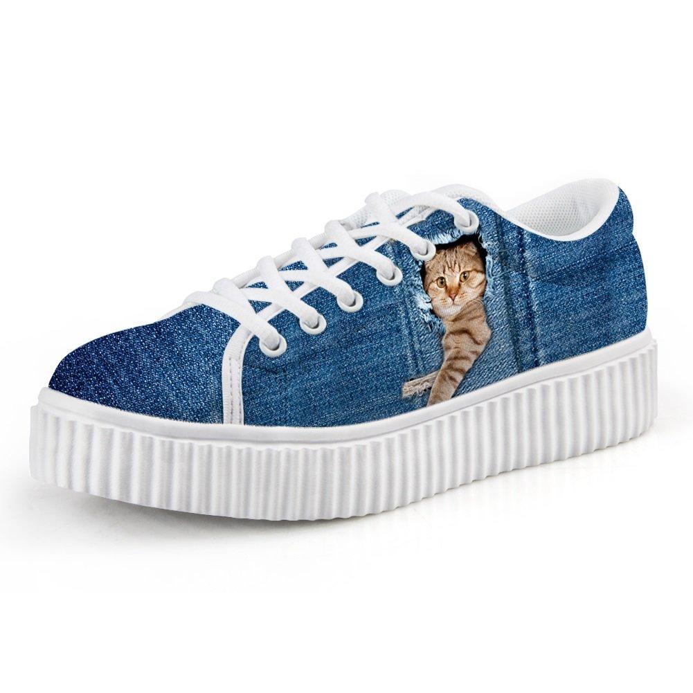 Zapatos de Mujer Zapatos de Lona de Las Señoras de la Caída Comfort Sneakers Flat Heel Round Toe For Casual Office Vestido de la Carrera 35 EU Do