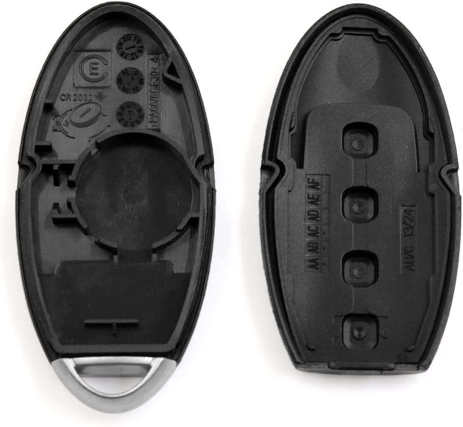 uxcell New 4 Buttons Uncut Insert Key Fob Remote Control Case Shell Replacement for KR55WK48903 2007-2012 Nissan Altima