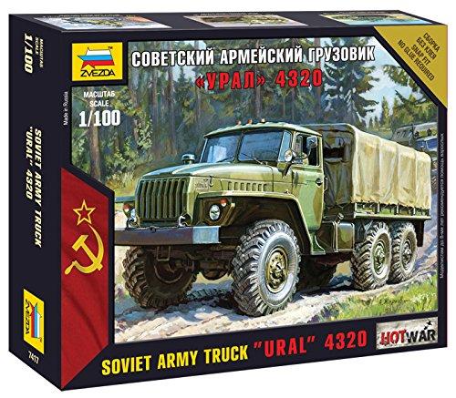(Zvezda Models 1/100 Ural 4320 Russian Army Truck Model Kit)