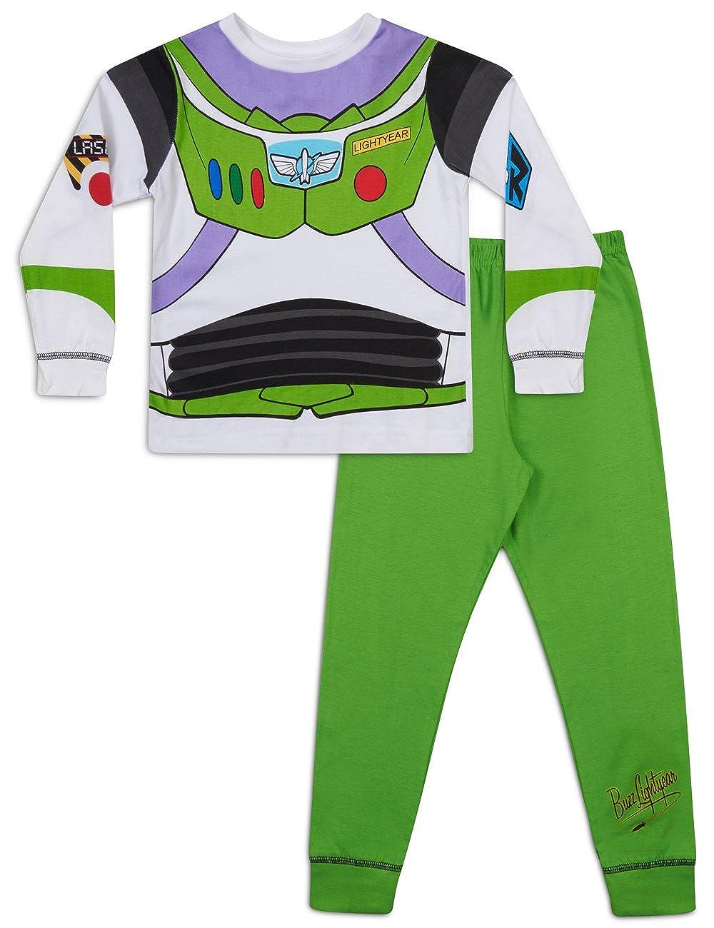 Boys Toy Story Buzz Lightyear Glow in The Dark Snuggle Fit Pyjamas
