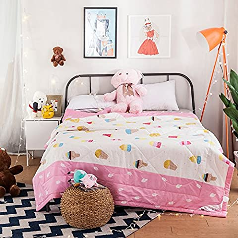 100% Cotton Made Cartoon Printed Toddler Duvet Comforter Spring & Summer Quilt / Blanket - Nova Spring