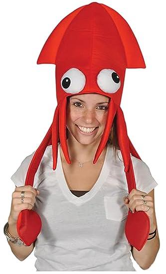 Squid Hat - Red Squid Hat 4dd8ee26905