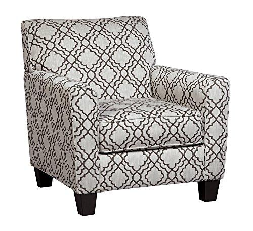 - Farouh Pearl Fabric Accent Chair w/ Lattice Print by Ashley