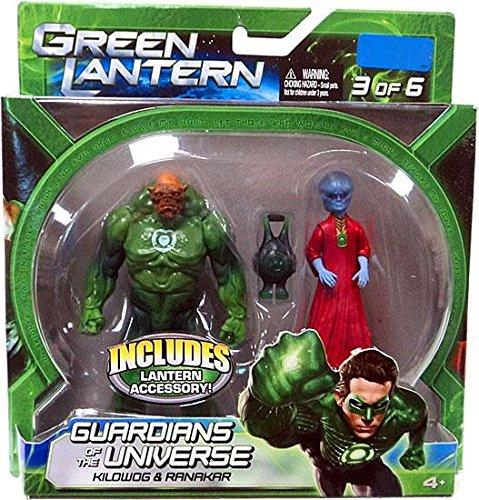 Green Lantern Movie Exclusive Guardians of the Universe 2Pack Set 3 of 6 Kilowog Ranakar Mattel Toys V8975