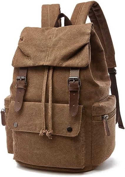 Unisex Vintage Tela Zaino Zaino Scuola Satchel Bookbag Borsa Escursionismo