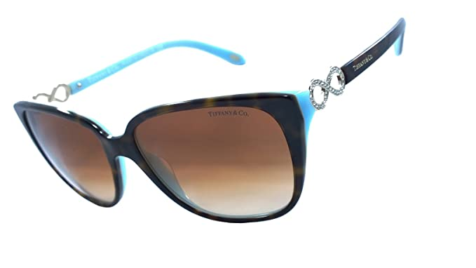 dbfab8e5168f Image Unavailable. Image not available for. Color  Tiffany   Co. Tf4111-b  100% Authentic Women s Sunglasses Havana   Blue 8134
