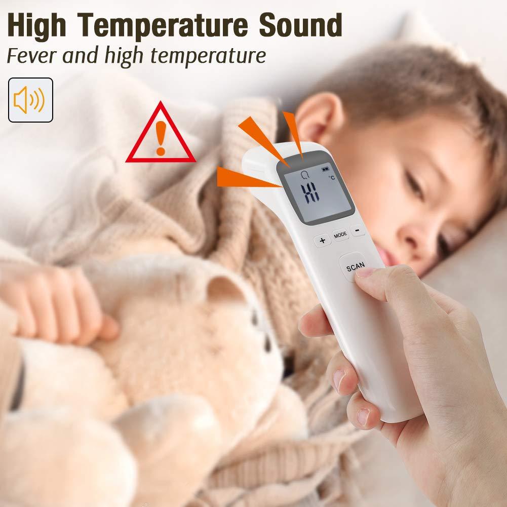 Ber/ührungslose elektronische Thermometerpistole f/ür medizinisches Fieber genaue digitale Temperatur Infrarot-Stirnthermometer ber/ührungslose Temperaturmessung f/ür Erwachsene und Babys