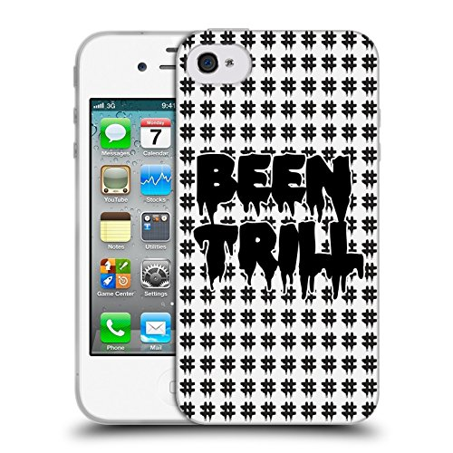 Official Been Trill Black Hashtag Logo Patterns Soft Gel Case for Apple iPhone 4 / 4S