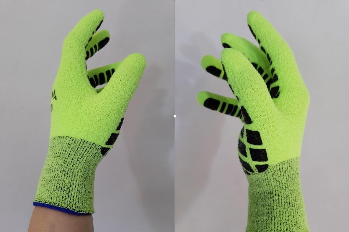 コーティング作業手袋 – 冬キューブ(フリーサイズ/冬) B00L7J39LA