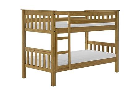 Pine Bunk Bed Kids Barcelona Single 3ft SHORT Great Childrens First Bunk Bed