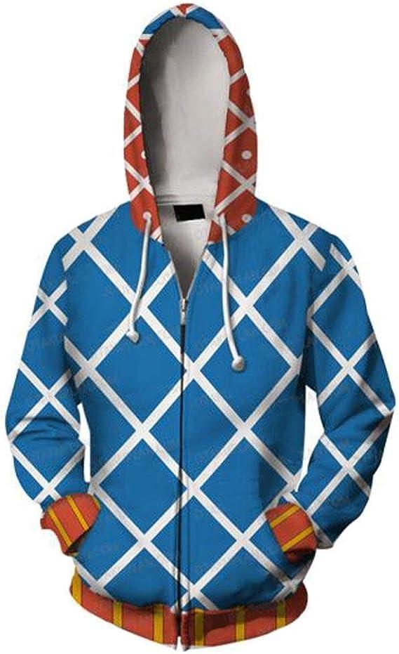 WGS la Fantástica Aventura de Jojo GERD · Misstar 3D Impreso Suéter Cosplay Jersey Suéter Sudadera con Capucha Camisa con Cremallera, XXXXXL: Amazon.es: Deportes y aire libre