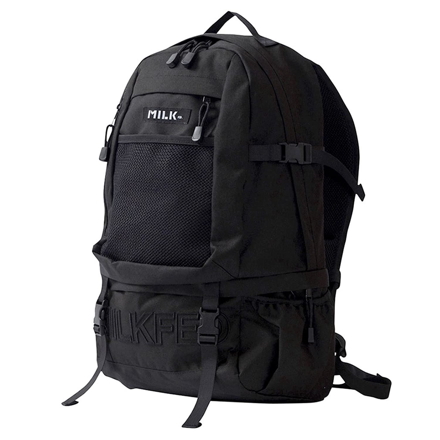 MILKFED embroidery big backpack バックパック リュックサック レディース 通学 カジュアル B077Z3KTC6  ブラック Free