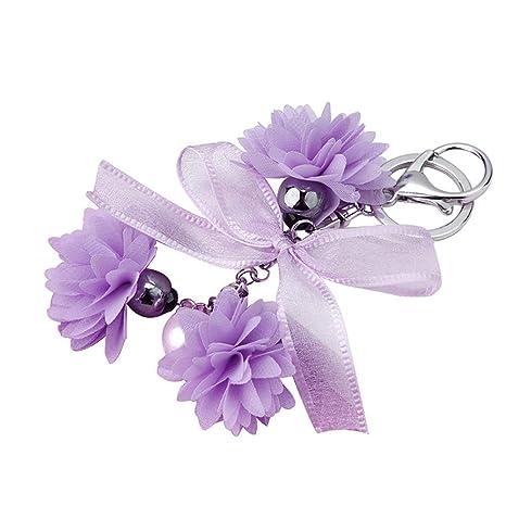 Amazon.com: LBgrandspec - Llavero de tela con diseño de flor ...