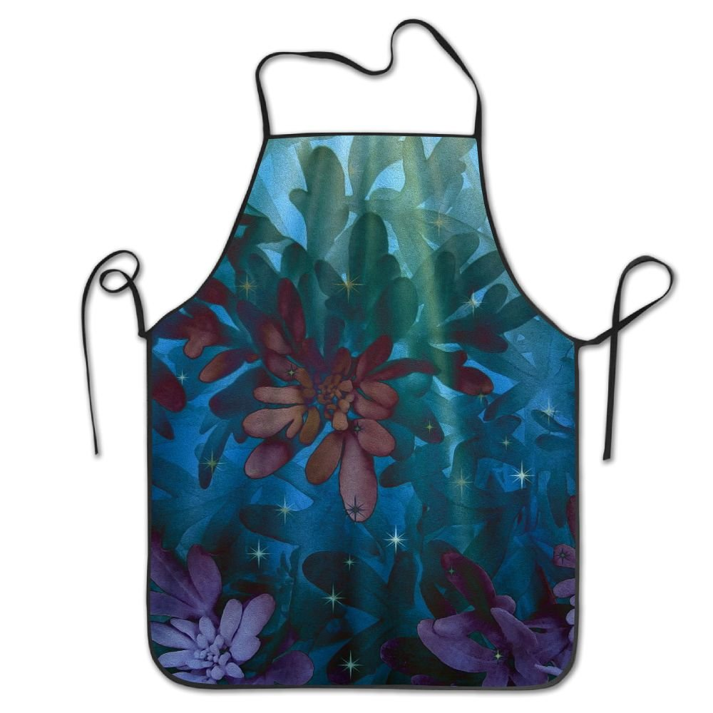 Yisliferunaz Beam Light Flowers Tree Aprons Bib Mens Womens Lace Adjustable Polyester Chef Cooking Long Full Kitchen Aprons For Indoor Restaurant Cleaning Serving Crafting Gardening Baking BBQ Grill