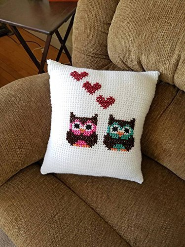 Owl Crochet Accent Throw Pillow by Shay's Crochet Creation