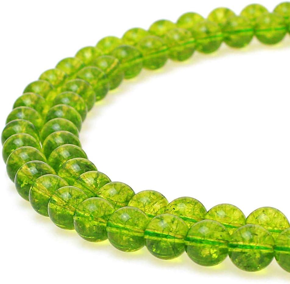 jartc Natural explosión verde cuarzo cuentas redondas perlas de perlas de ágata piedra Beads DIY sueltos para fabricación de joyería 15
