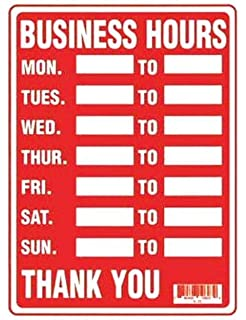 Amazon.com : 2 Business Hours Sign Monday Thru Friday Store Office ...