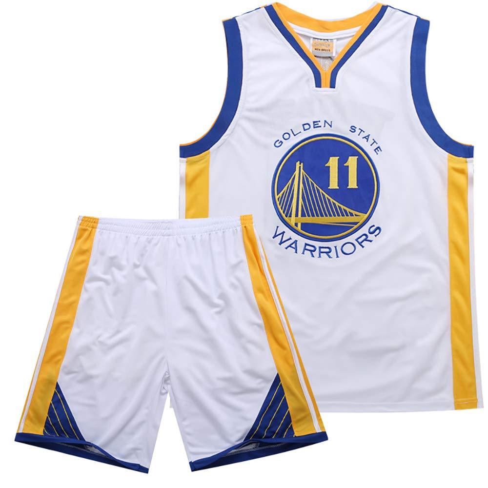 Herren Basketball Jersey Weiß, Schwarz, Blau Warriors 11 Thompson Jersey Set Bestickt B07L4JH8CY Spieltrikots Praktisch und wirtschaftlich