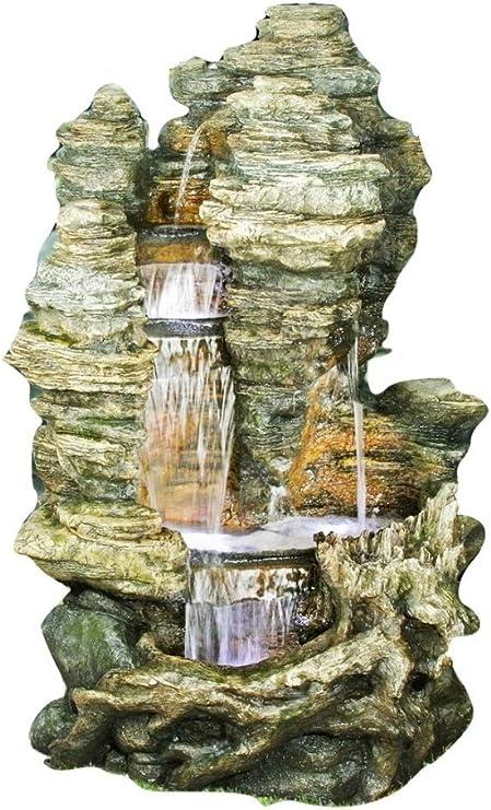 Ubbink Grande Fontaine De Jardin Cascade D Eau Miami A Eclairage Led Avec Pompe Amazon Fr Jardin
