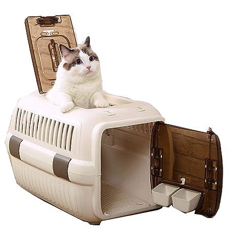 LHPT Caja de Aire Perro Gato Jaula Transporte de Mascotas portátil ...