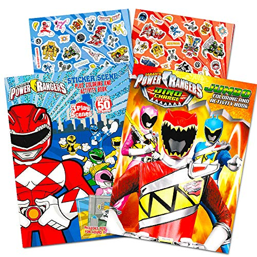 Power Rangers Coloring Book Super Set -- 2 Coloring and Activity Books and Over 50 Stickers ()