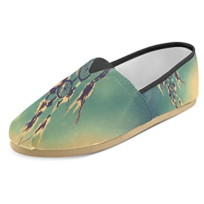 InterestPrint Women's Loafers Classic Casual Canvas Slip On Fashion Shoes Sneakers Flats Dream Catcher with Sky at Sunset