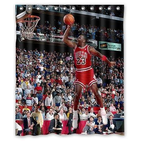 Michael Jordan Shower Curtain 60quot X 72quot Click Here Four Size Perfect