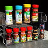Clear Acrylic Wall Mounted / Counter Top 2 Tier Spice Rack / Kitchen Organizer Storage Display - MyGift®