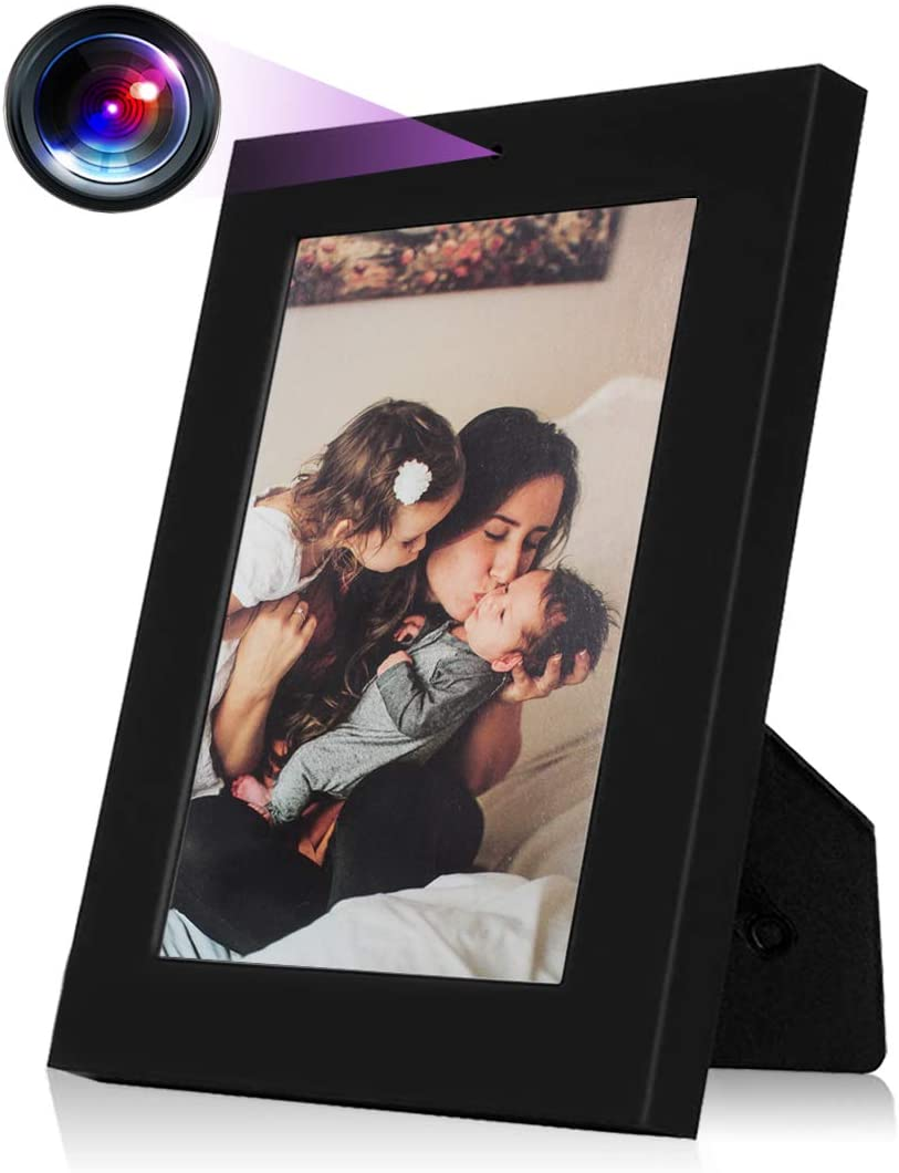 Hidden Camera, HD 960P Photo Frame Spy Camera Video Recording, Motion Activated for Home Security Secret Surveillance Wireless Nanny Camera, No WiFi Function